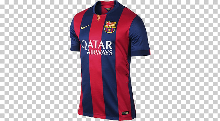 FC Barcelona Home Kit, red and blue Qatar soccer jersey PNG.