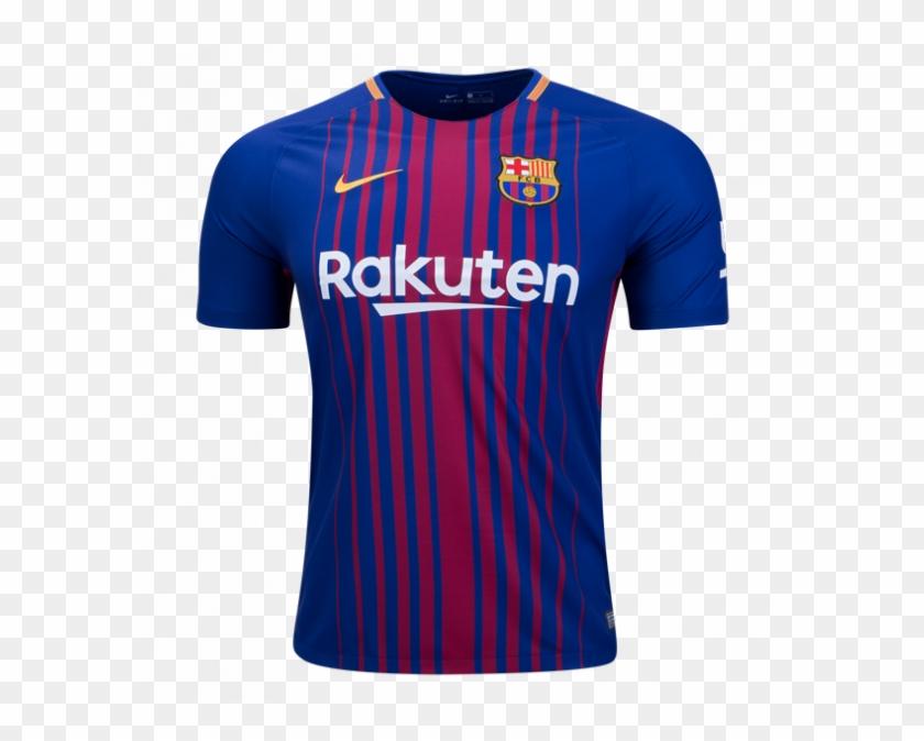 Barcelona 2017 2018 Home Fans Version Soccer Jersey.