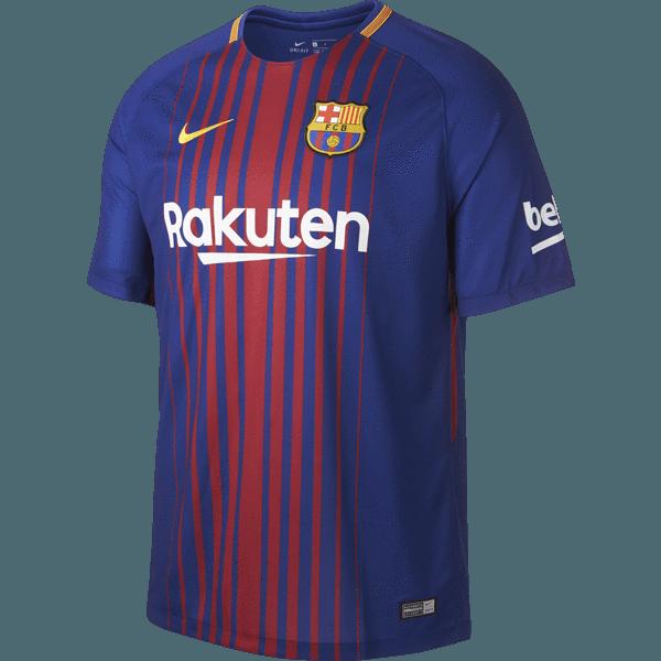 Nike FC Barcelona Youth Home Jersey.