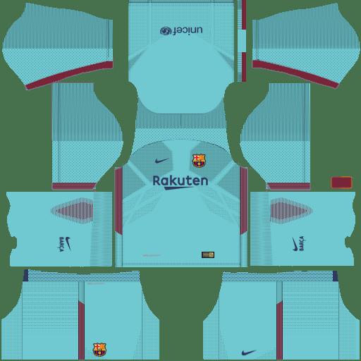 Dream League Soccer Barcelona FC Kits Away 2018.