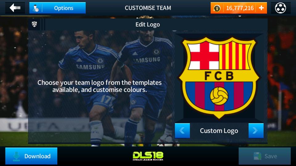Fc Barcelona Logo And Kits For Dream League Soccer 2018.