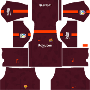 Barcelona Kits Dream League Soccer 2018.
