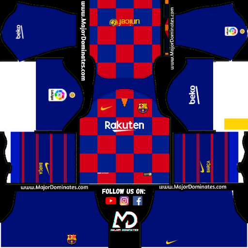 Download FC Barcelona Logo and Kits url for Dream League Soccer 2019.
