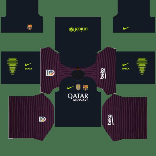 Dream League Socker 2019 Barcelona Logo and Kit Download.
