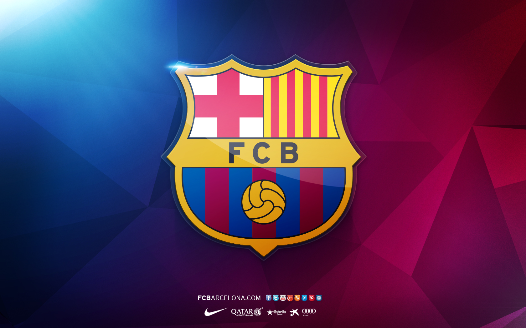 Fc Barcelona Logo Wallpaper For Desktop.