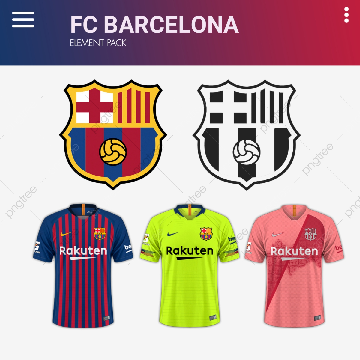 FC Bacelona Football Club Graphic Elements, Football Club, Fc.