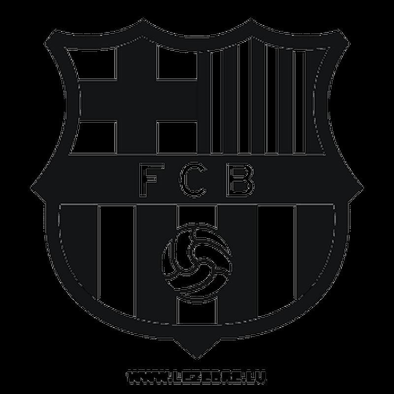Fcb Barcelona Black And White Logo Png Images.