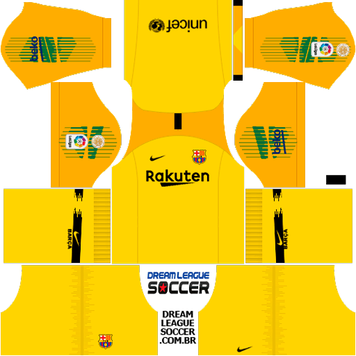 Kit Barcelona 2018/2019 Dream League Soccer kits URL 512×512 DLS 19.