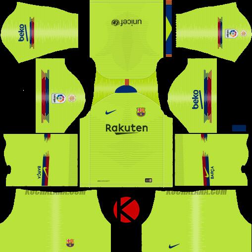 F.C. Barcelona 2018/19 Nike Kit.