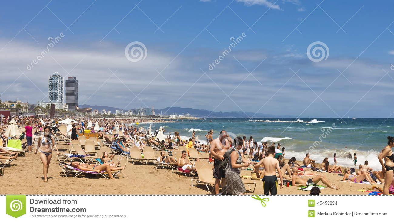 Barcelona beach clipart.
