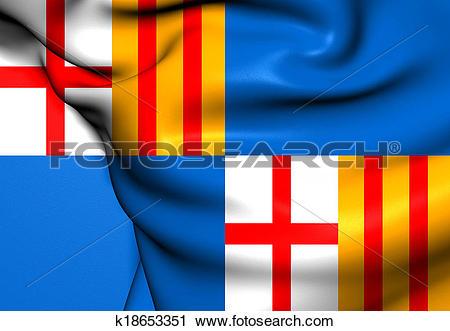 Clipart of Flag of Barceloneta, Puerto Rico. k18653351.