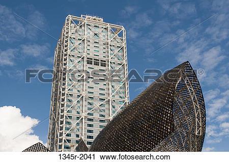 Stock Photography of Spain, Barcelona, La Barceloneta, Olympic.
