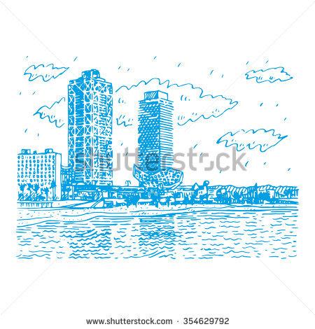 Barceloneta Stock Vectors & Vector Clip Art.