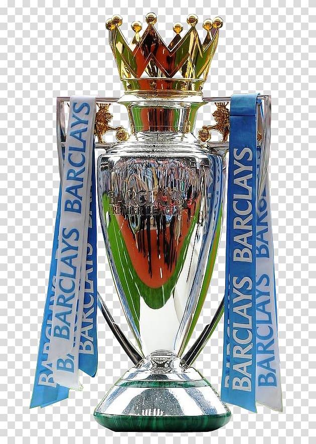 Silver Barclays trophy, Premier League UEFA Champions League.
