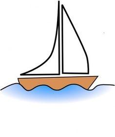 Antiguo barco Vikingo. Clip Art Vectorizado..