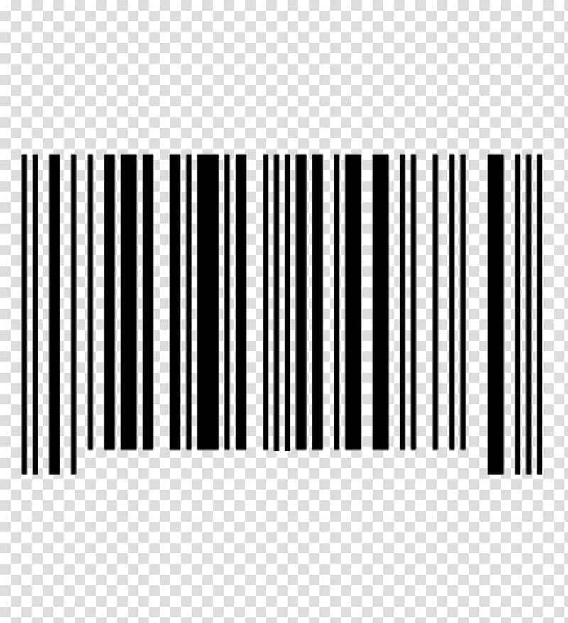 Barcode Scanners Logo QR code, steel bar transparent.