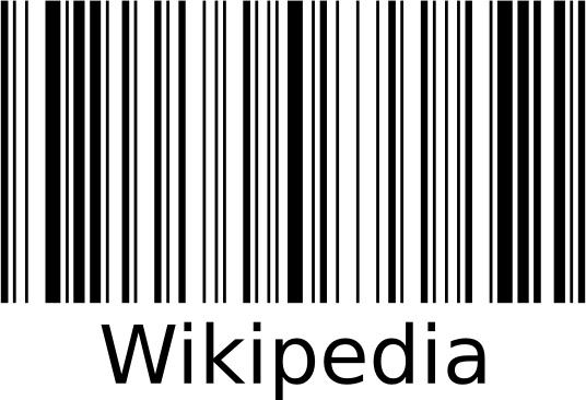 Wikipedia Barcode clip art Free vector in Open office drawing svg.