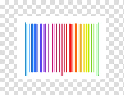 Barcode, multicolored barcode line transparent background.
