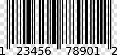 Barcode UPC A transparent background PNG clipart.