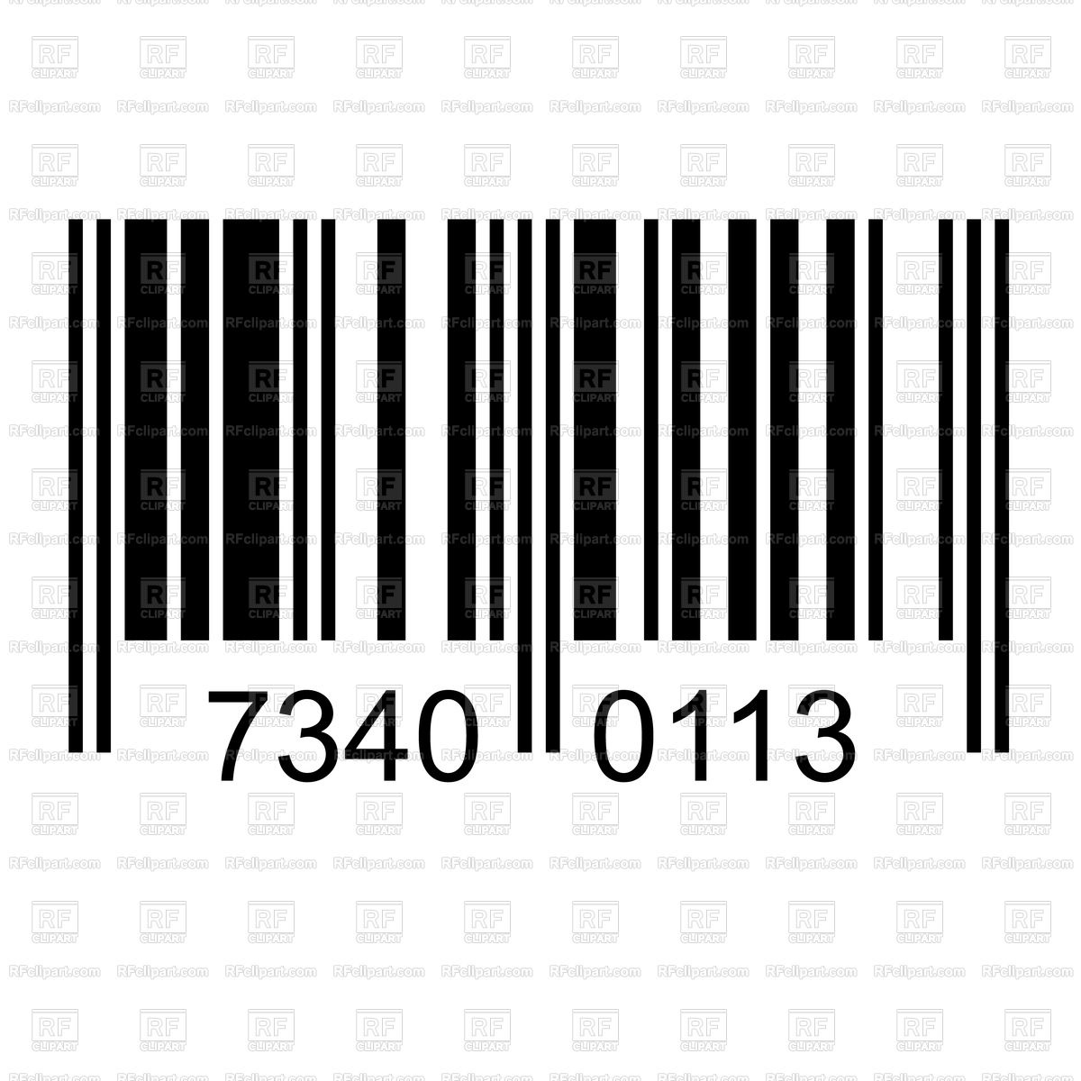 Barcode with fake numbers Stock Vector Image.