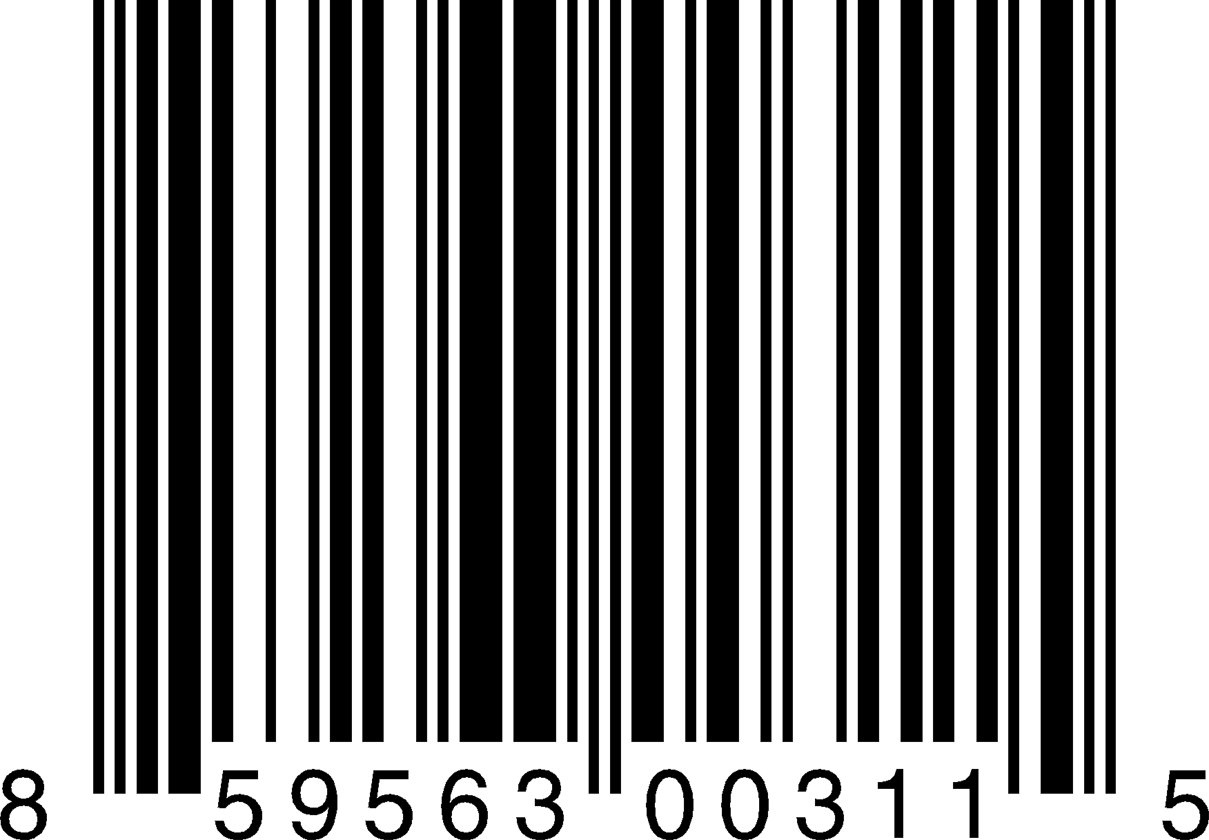 Bar Code Vector Transparent.