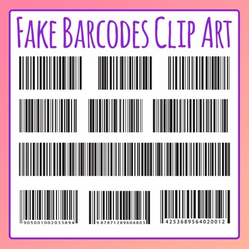 Fake Barcode / Bar Code Clip Art For Commercial Use in 2019.