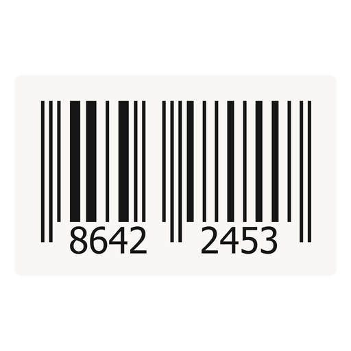 Barcode label design.