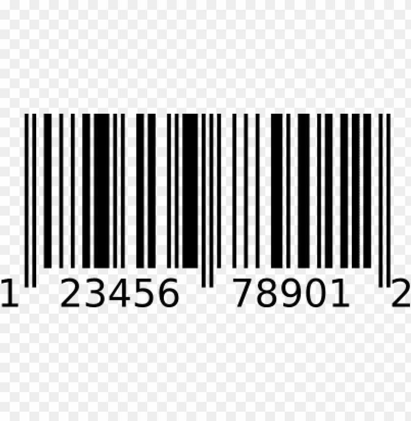 barcode upc a PNG image with transparent background.