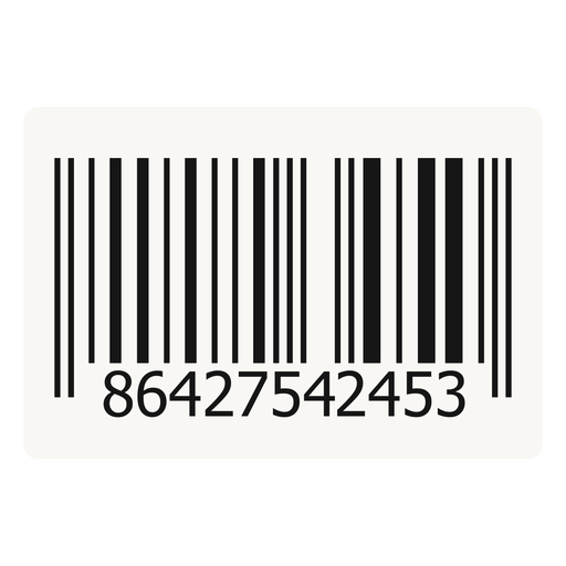 Barcode design element.
