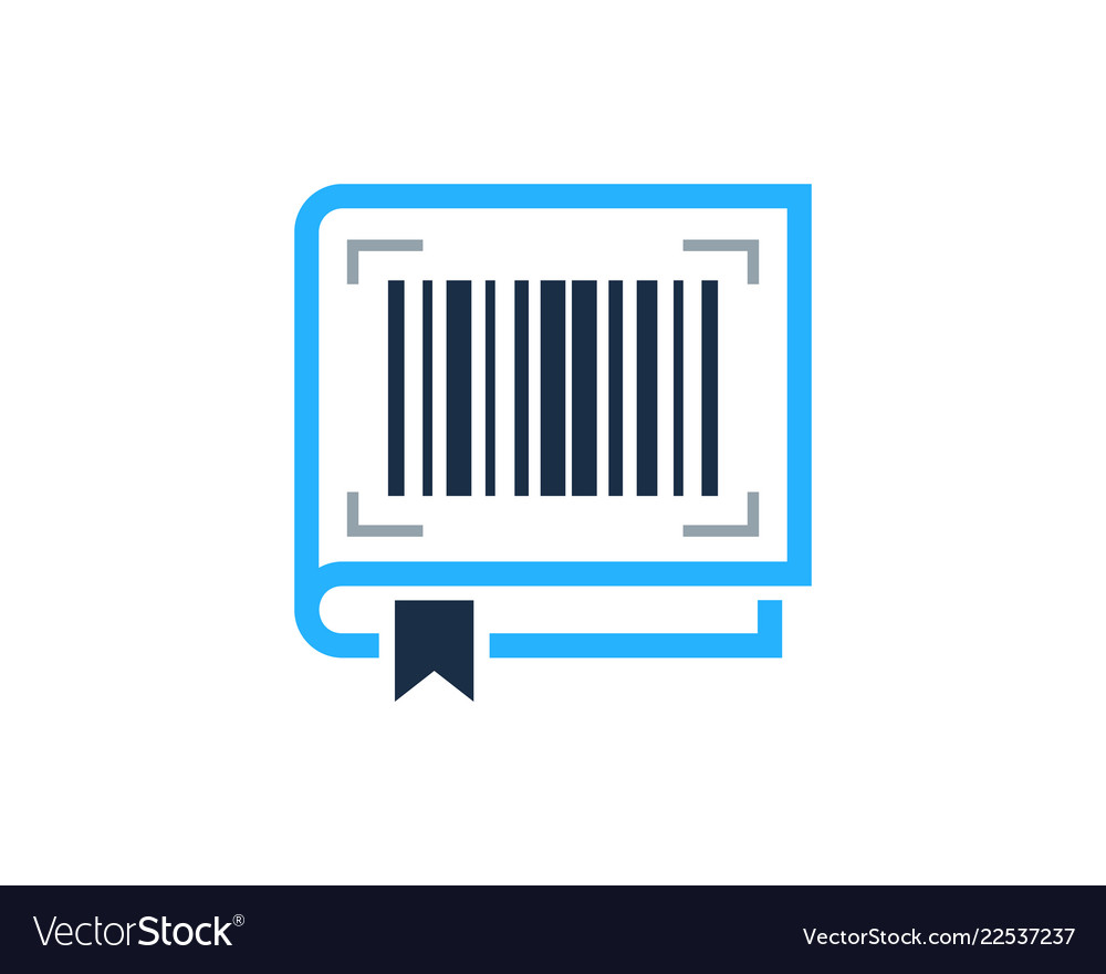 Book barcode logo icon design.