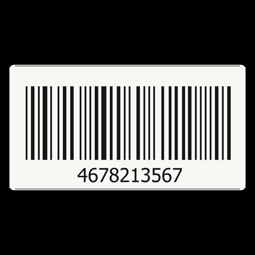 Barcode sticker element.