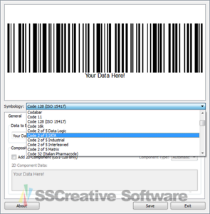 Details about Barcode Generator Image Export for Label Design Create EAN  ISBN UPC A C Software.