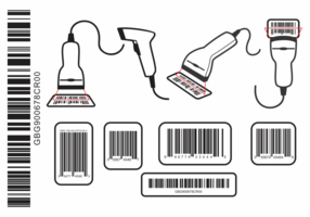 QR code and Barcode icons set Vector.