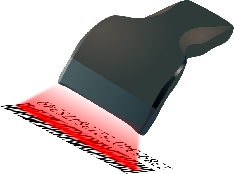 Free Clipart: Barcode scanner scanning barcode.