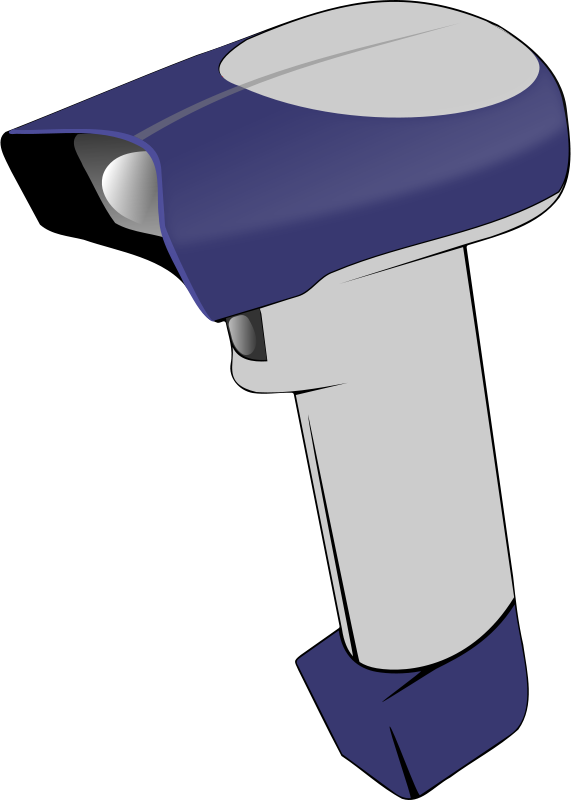 Free Clipart: Barcode scanner.