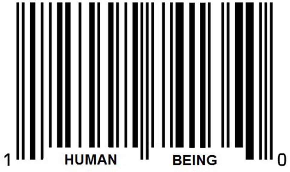 Human Being Barcode.