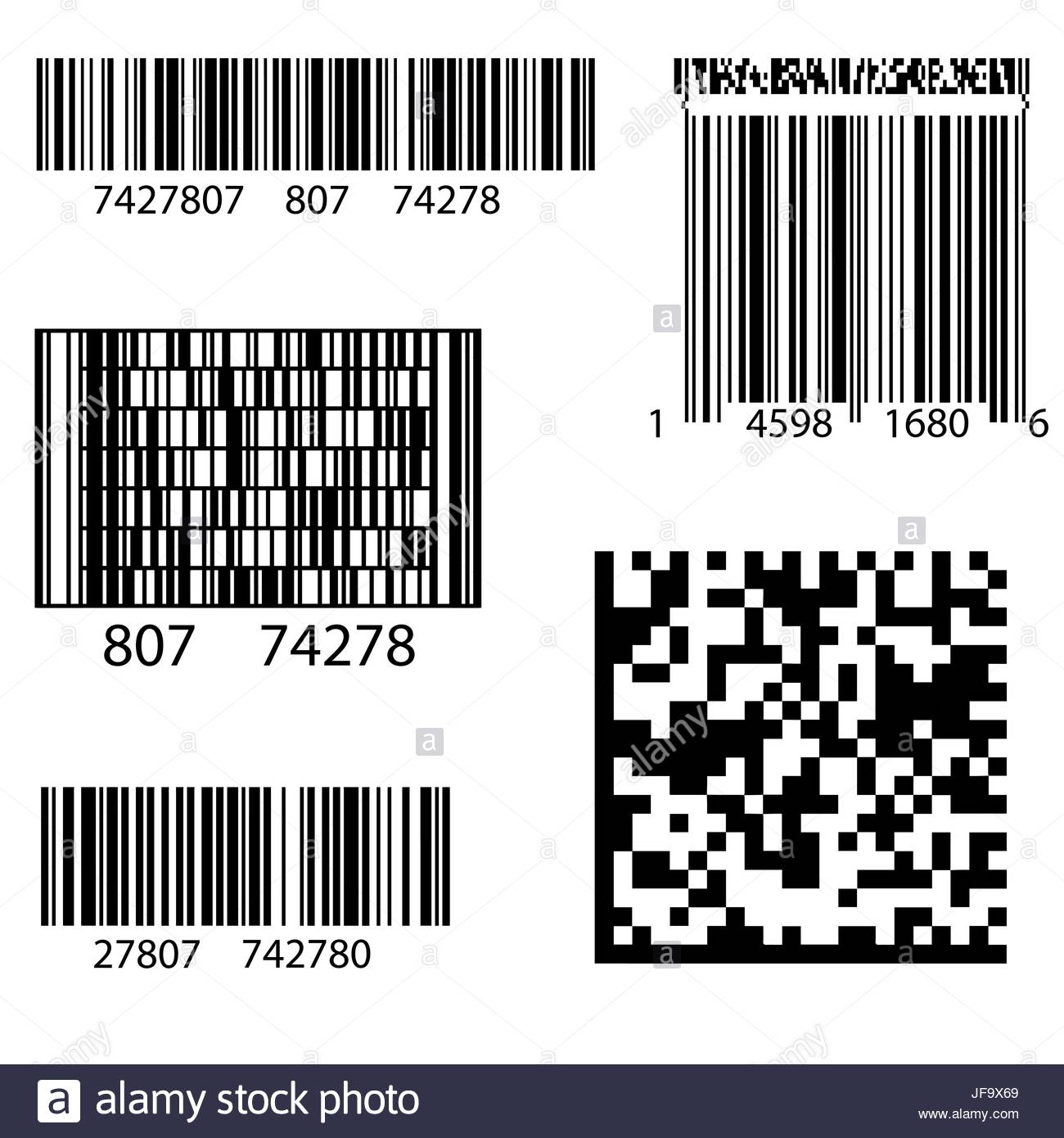Product Barcode 2d Square Label. Sample QR Code Ready to Scan with.