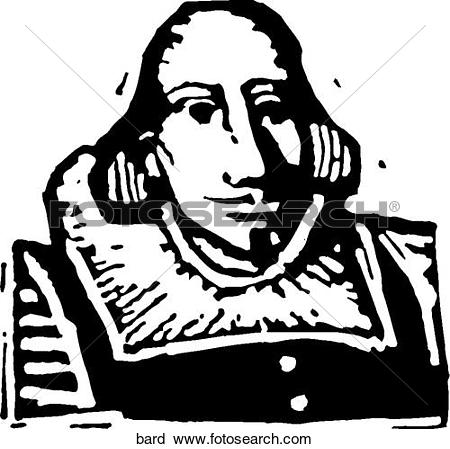Clipart of Shakespeare bard.