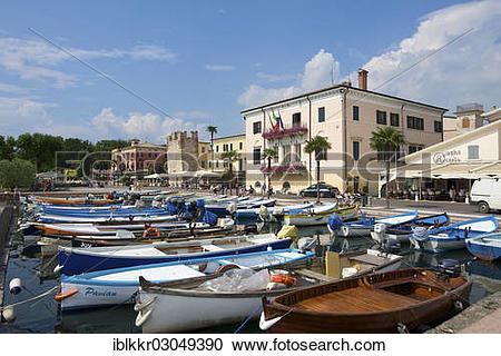 "Stock Photography of ""Harbour of Bardolino on Lake Garda."