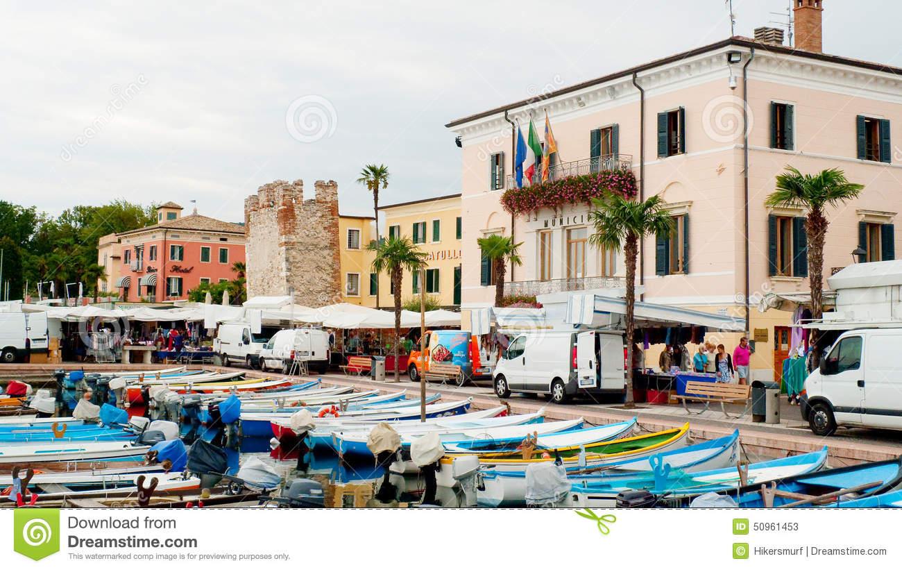 Market In Bardolino Garda Lake Editorial Stock Photo.