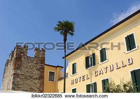 """Stock Image of """"Town of Bardolino on Lake Garda, Italy, Europe."""