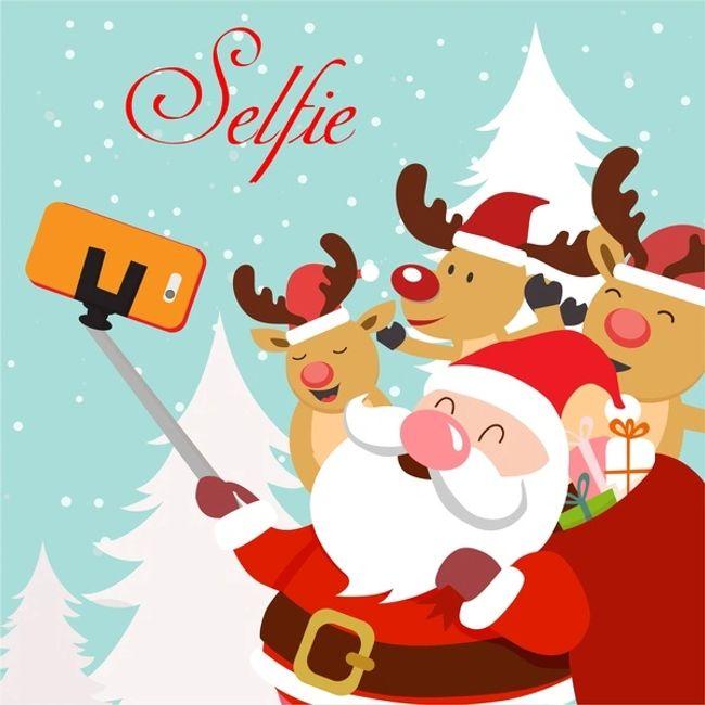 Selfies with Santa.