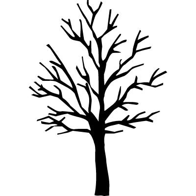 Bare branch silhouette clipart.
