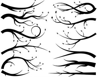 Tree with bare branches clipart.