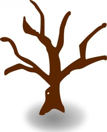 Bare tree branch clipart.