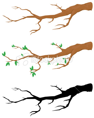 Tree with tree branches clipart.