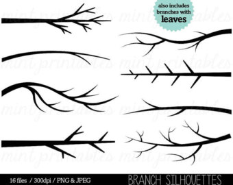 Bare branch tree clipart.