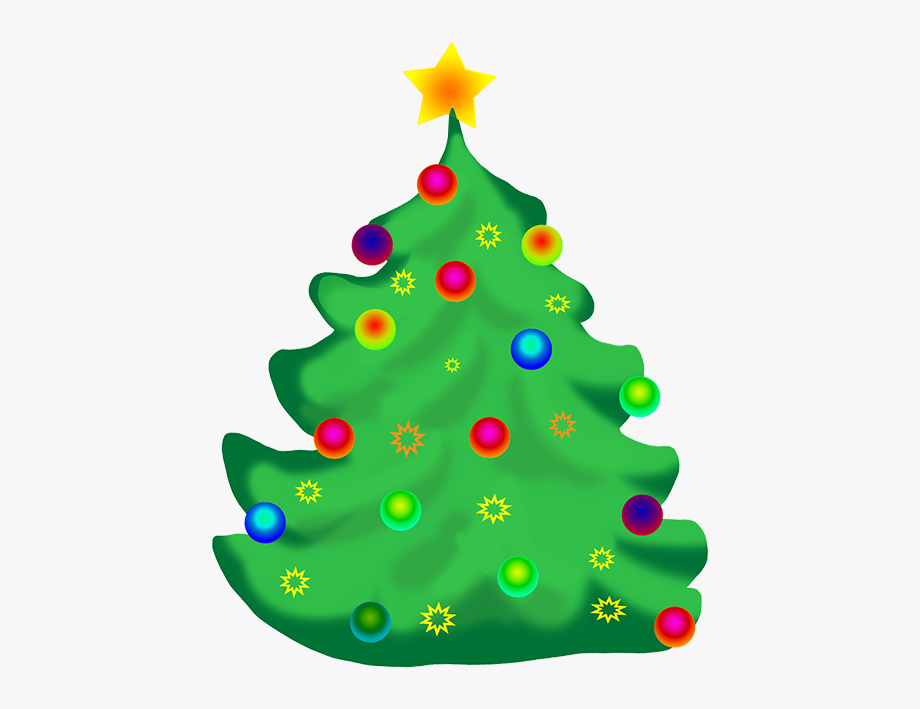 Decorated Christmas Tree Clip Art.