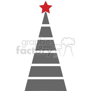 black Christmas tree design clipart. Royalty.