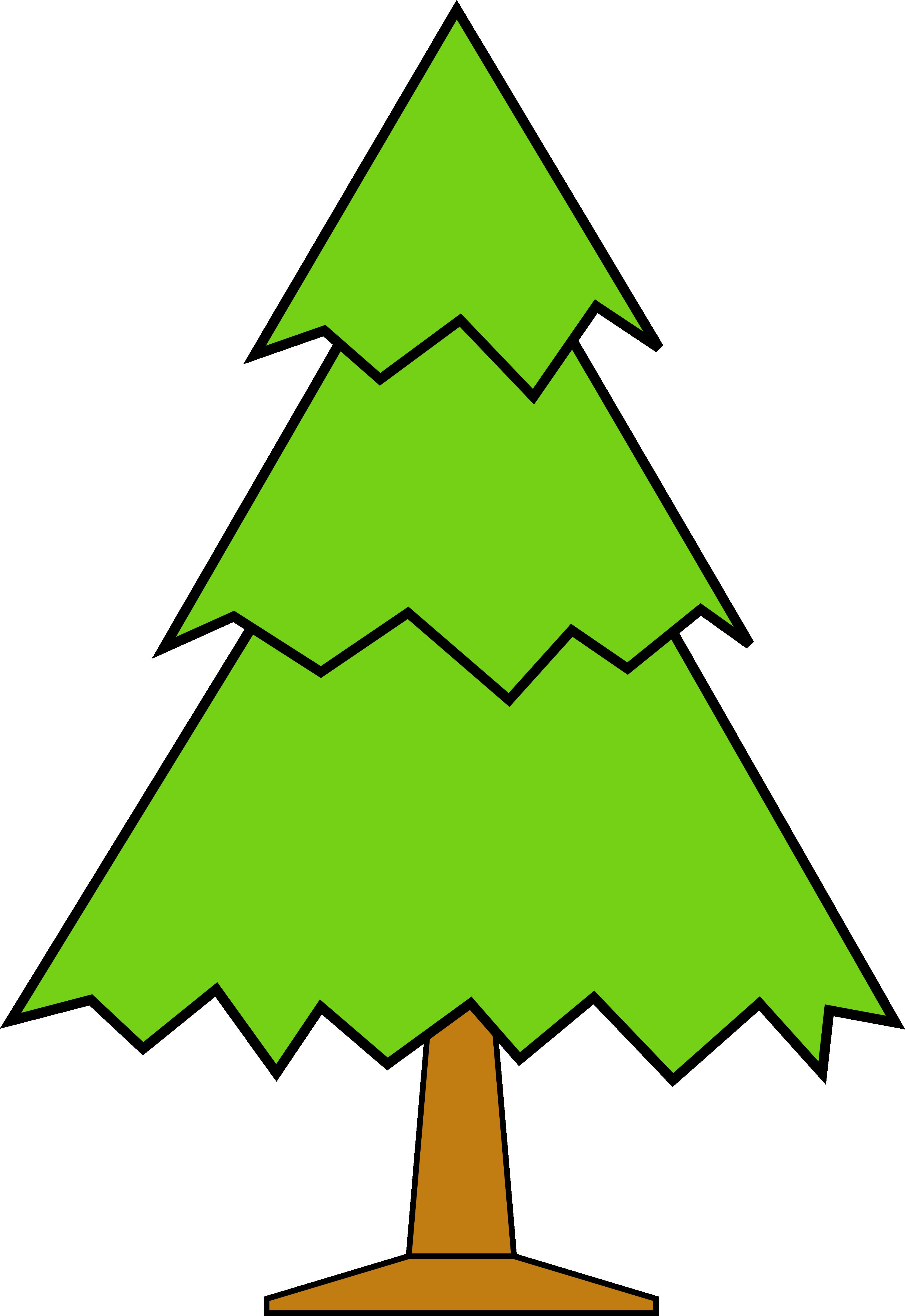 Bare Christmas Tree Clipart.